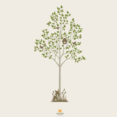 (샤워커튼)서서자는나무