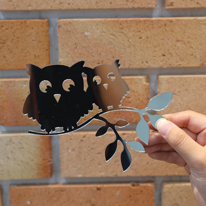 부엉이 커플 스위치 아크릴 스티커