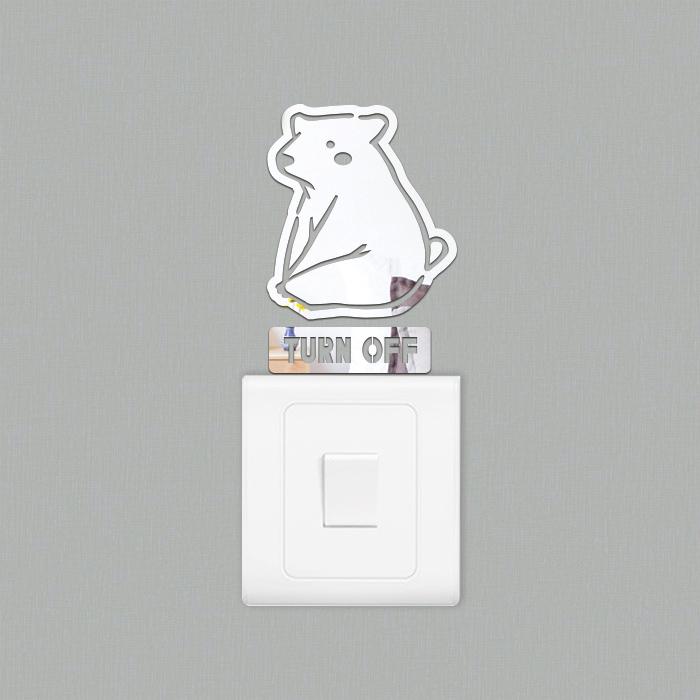 북극곰 스위치 아크릴 스티커