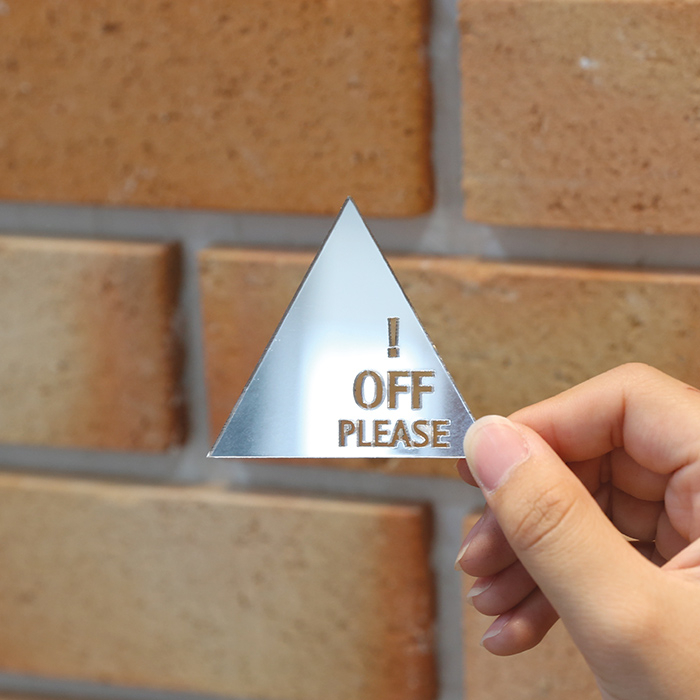 Off please 스위치 아크릴 스티커