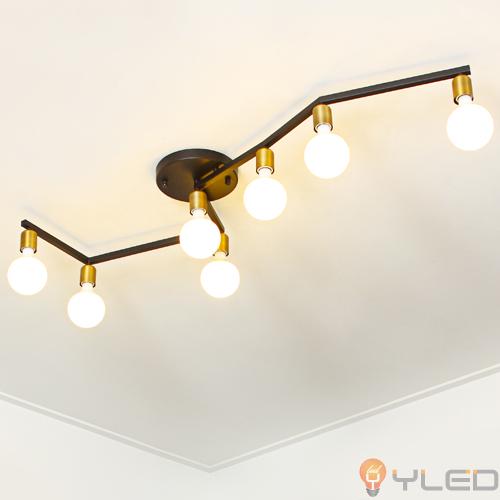 [LED거실등] LED 디퍼7등 직부-블랙