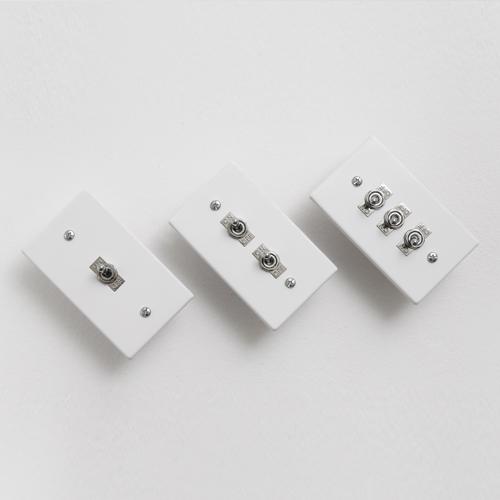 VONO 빈티지 알루미늄 토글스위치 3종 (화이트)