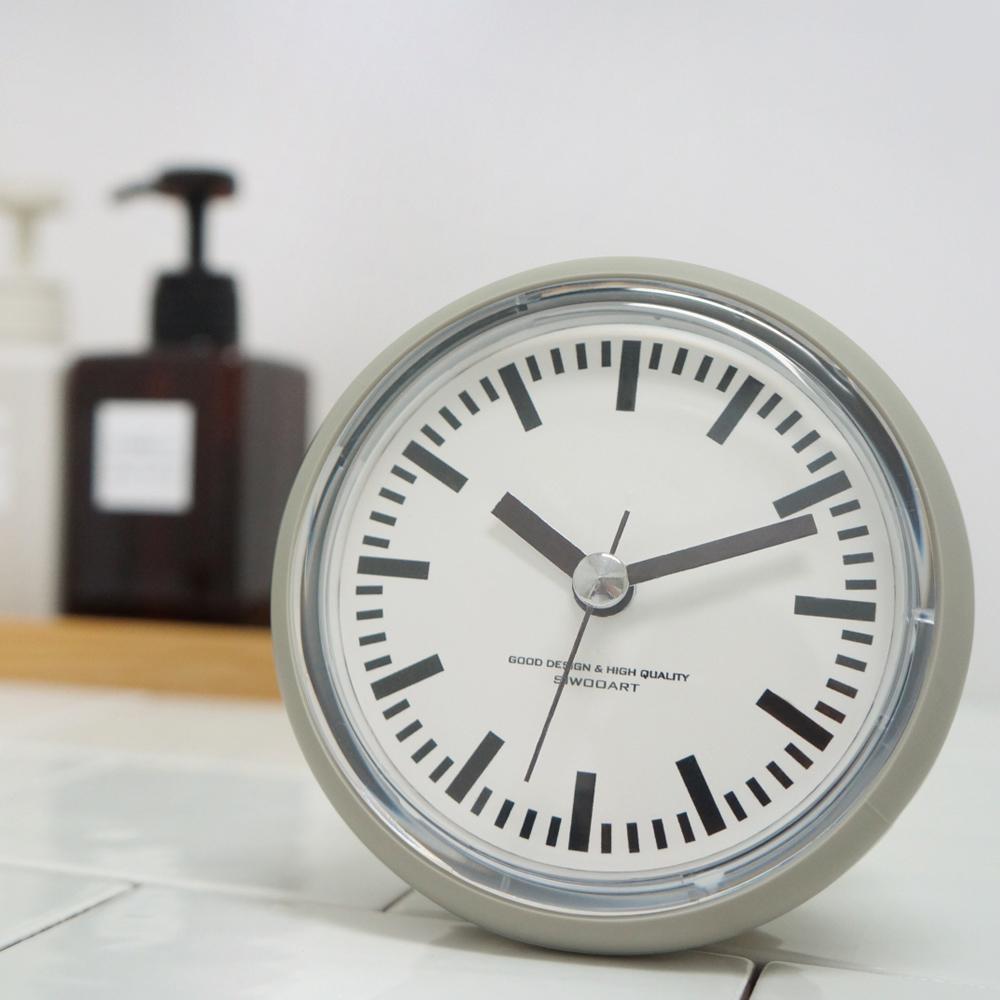 레트로욕실방수시계(2color)/거치대 증정