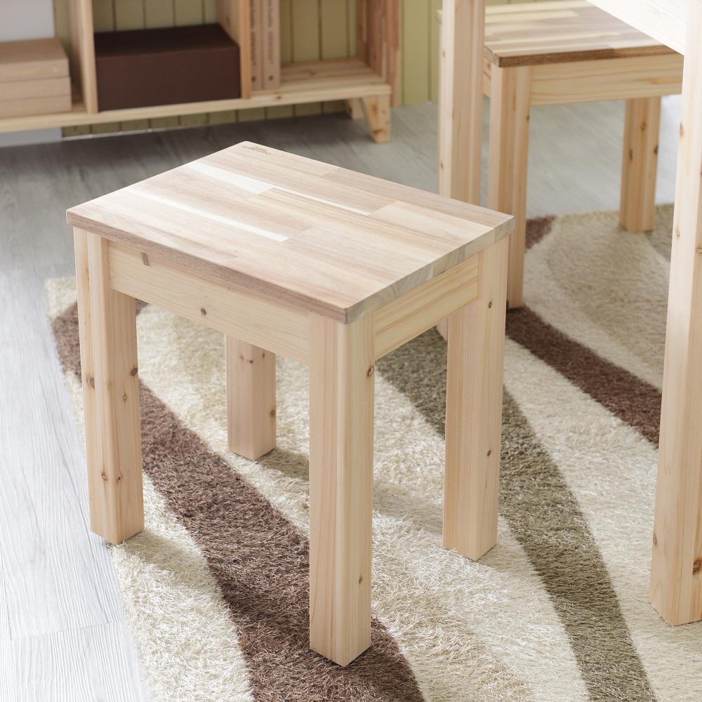 아카시아 원목 1인벤치 스툴 체어 의자