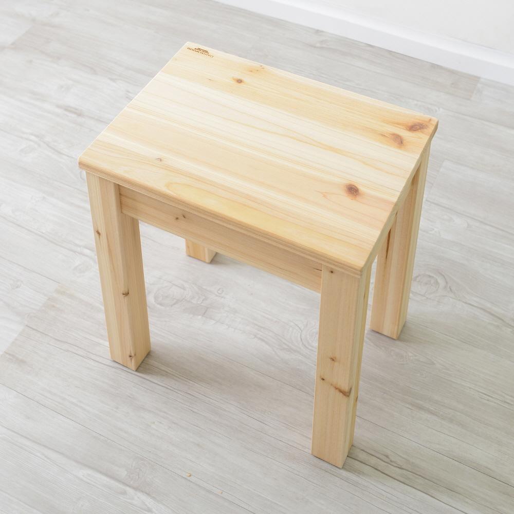 삼나무 원목 1인벤치 스툴 체어 의자