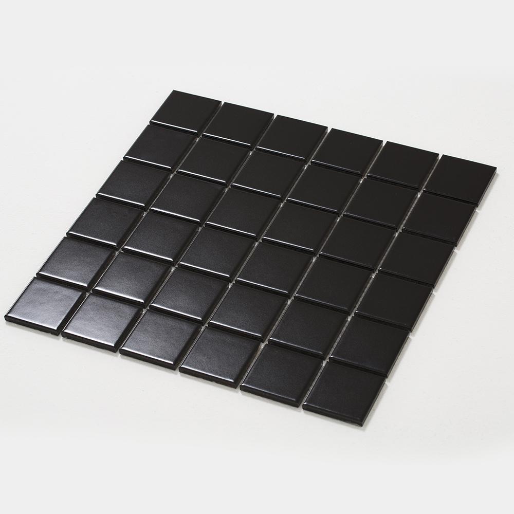 정사각 모자이크 타일 (CH-03 블랙) 1BOX 10장