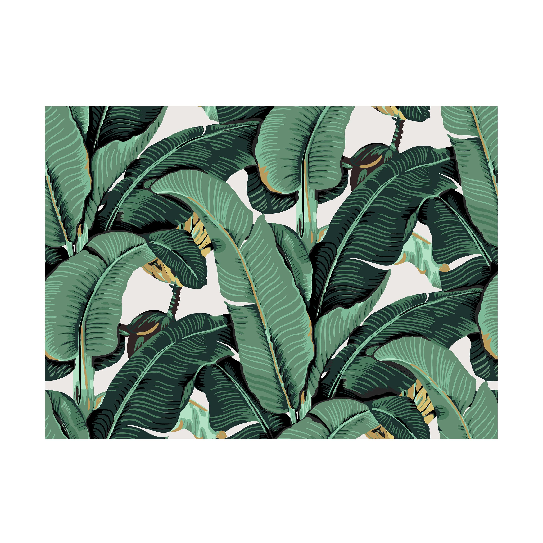 인테리어 월아트 익시 - Banana leaf