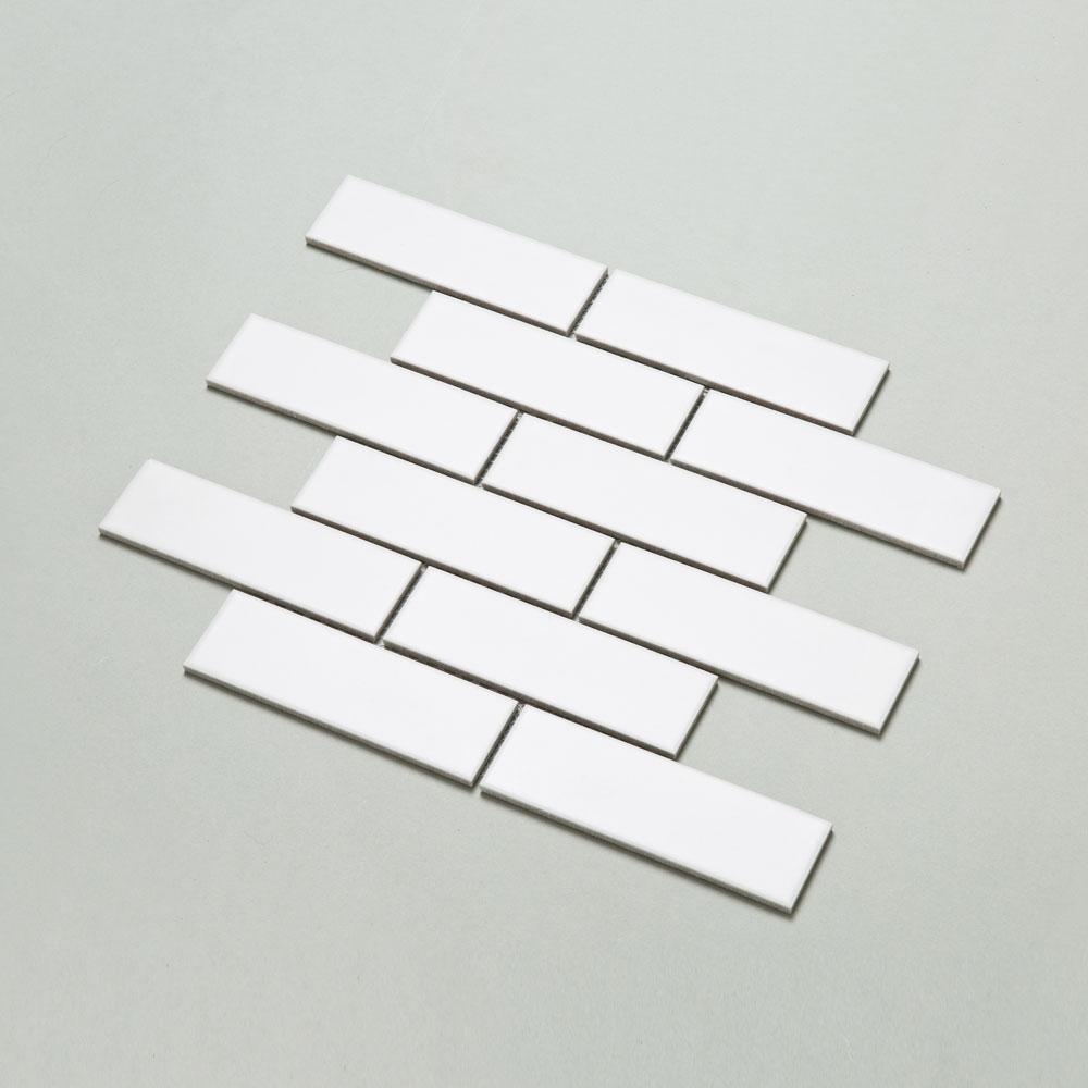블럭 모자이크 타일 (BAB-01 화이트) 1BOX 11장