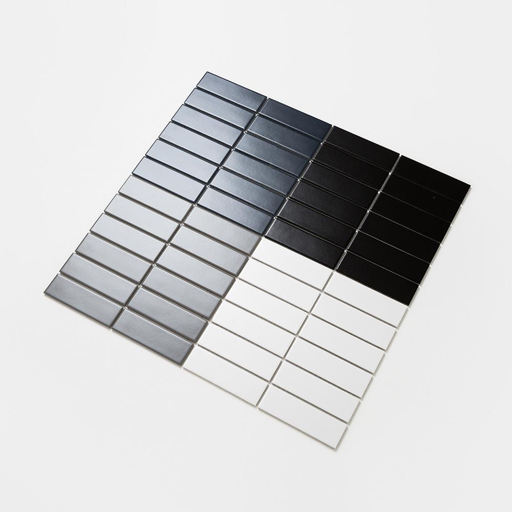 직사각 모자이크 타일 (BAN-03 블랙) 1BOX 11장