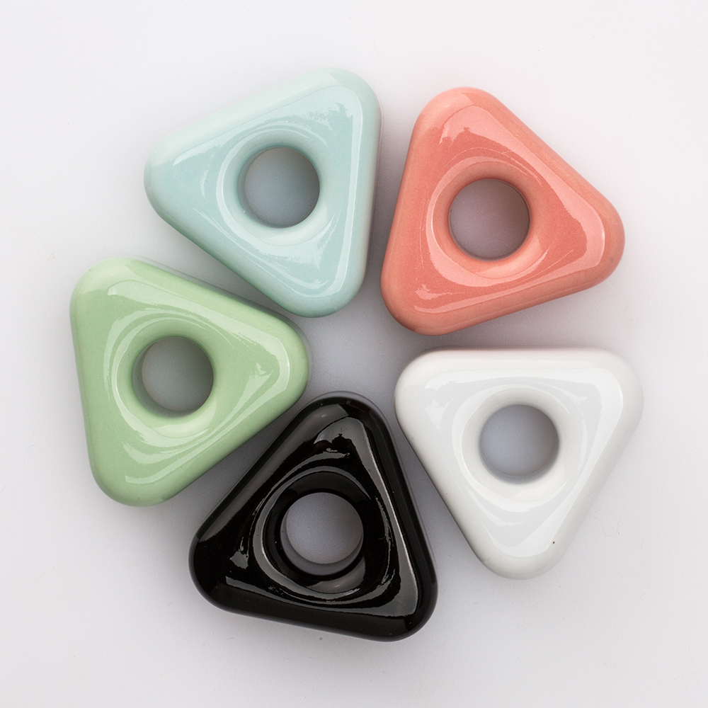더 심플 삼각 도자기 칫솔꽂이 5color