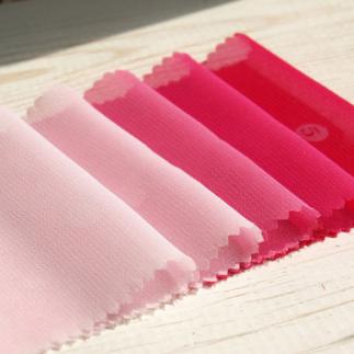 쉬폰 핑크계열 5색