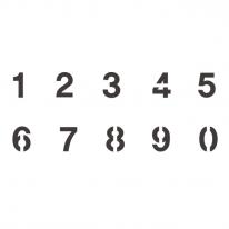 스텐실 도안_숫자(대) 30*10.5cm (A4크기의 반)