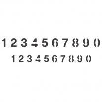 스텐실 도안_숫자(중소) 30*10.5cm (A4크기의 반)