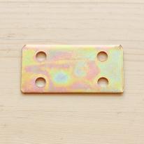 [나사별도구매 제품]보강철판 직사각 4홈 (55mm) (4개 set)