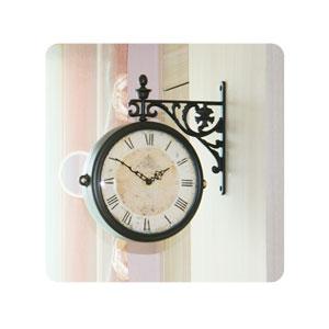 엔틱홀릭 딥밤색 양면시계(3종류)