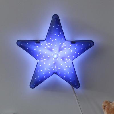 LED형 별모양 벽등(블루)