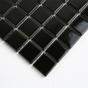 블랙 유광 모자이크 타일/25mm
