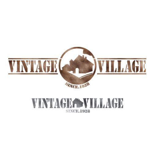 스텐실 도안_Vintage village
