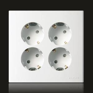 둥근형 매입4구 접지콘센트(환타지아)
