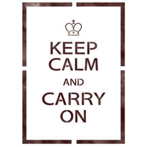스텐실 도안_Keep calm&Carry on