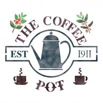 스텐실 도안_Coffee Pot