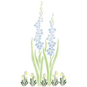 스텐실 도안_글라디올러스(붓꽃)(A3)