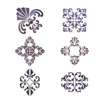 스텐실 도안_엔티크 패턴(A3)