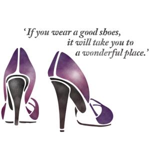 스텐실 도안_Shoes
