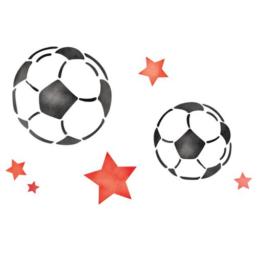 스텐실 도안_Soccer Balls 210*149 (A4반)