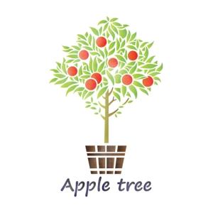 스텐실 도안_사과나무(A4/A3)