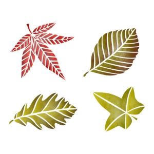 스텐실 도안_나뭇잎2