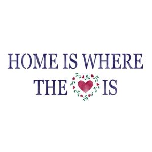 스텐실 도안_HOME IS