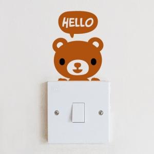 스위치스티커-안녕 곰