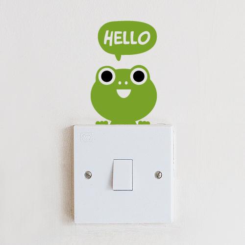 스위치스티커-안녕 개구리