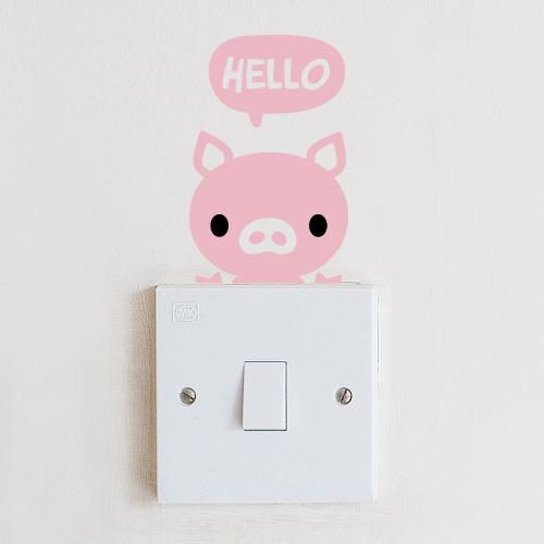 스위치스티커-안녕 돼지