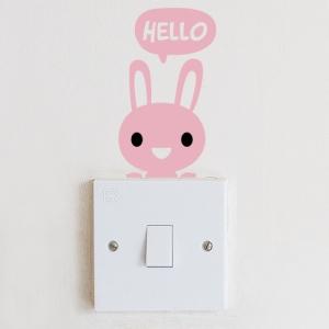 스위치스티커-안녕 토끼