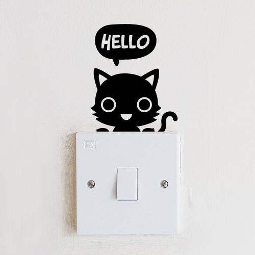 스위치스티커-안녕 고양이