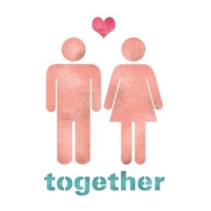 스텐실 도안_픽토그램 투게더(Together)(A5)