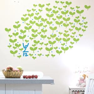 봄새싹 그래픽스티커 풀잎