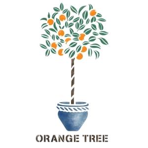 스텐실 도안_오렌지나무 (A4/A3)