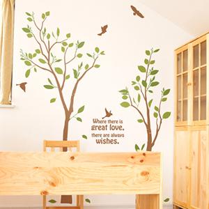 우리함께(나무2그루) 그래픽스티커 나무 포인트