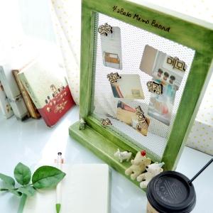 원목 철망 메모판+받침대+자석5종류(5가지색상택)
