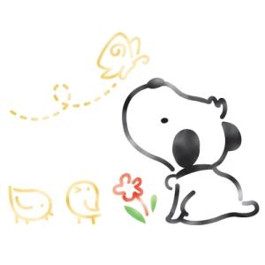스텐실 도안_꼬마친구들