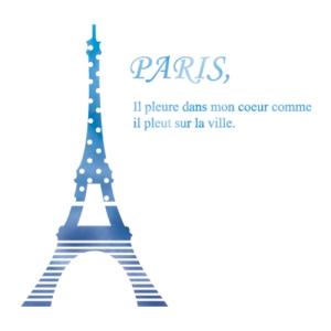 스텐실 도안_에펠탑 도트