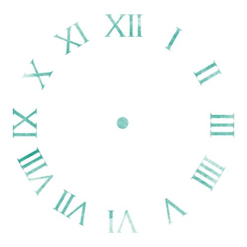 스텐실 도안_원형시계판11