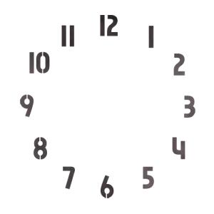 스텐실 도안_원형시계판7