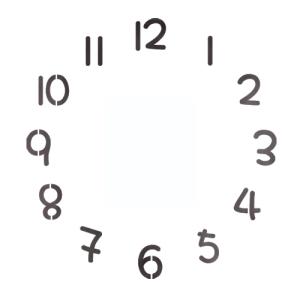 스텐실 도안_원형시계판6