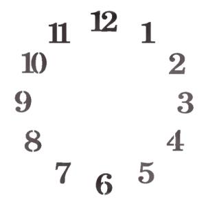 스텐실 도안_원형시계판16