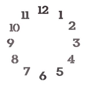 스텐실 도안_원형시계판15