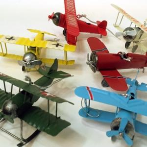 미니 양철 비행기 6P
